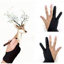 1 шт. перчатки для художника с 2 пальцами перчатки для рисования противообрастающие для графического планшета смазывание пня ручка заправка правая левая рука