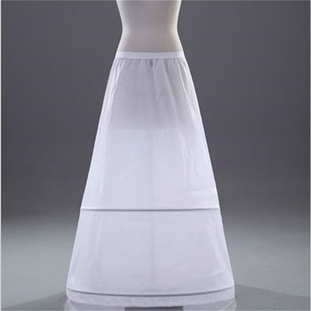 цена на Brand New A-line Petticoats White 2-Hoops Underskirt Crinoline for Wedding Dress Bride Gown In Stock Wedding Accessories