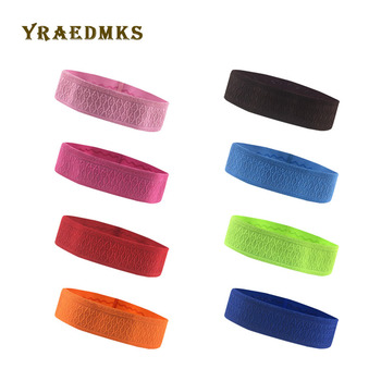 Yraedmks Anti-sweat sports headband men women running yoga anti-sweat belt fitness riding headscarf with anti-sweat absorption