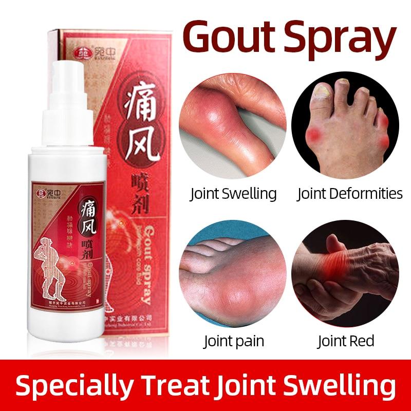 Спрей для подагры, жидкость для ухода за здоровьем, травяной лечебный препарат для лечения подагры, вызывающий боль в шее, пояснице, плечах, ...