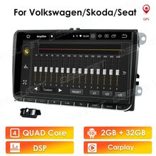 Android 10 2 + 32 RDS HD 9 ''araba GPS navigasyon NODVD oynatıcı VW Volkswagen SKODA GOLF 5 golf 6 POLO PASSAT B5 B6 JETTA TIGUAN