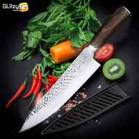 Kitchen Knife Set Chef Knives Japanese 7CR17 440C High Carbon Stainless Steel Santoku Utility Slicer Paring Meat Cleaver Knife