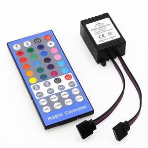 Image 5 - Lights 4 Channels DC 12V   24V RGBW LED Controller Dimmer 40Key 5Pins IR Remote Control For SMD 5050 RGBW RGBWW LED Strip Light