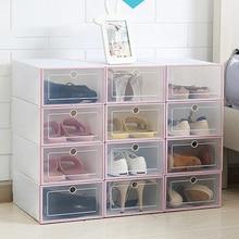 Buy New Transparent Plastic Shoe Box Flip Design Shoe Storage Artifact Home Storage Tool DC112 directly from merchant!