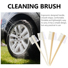 4 Pcs Double-head Car Cleaning Brushes Practical Car Rim Hub Cleaning Brush