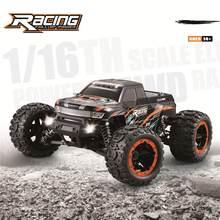 Orijinal HBX 16889 1/16 2.4G 4WD 45km/saat fırçasız RC araba ile yüksek hız LED ışık elektrikli Off-Road kamyon RTR Model VS 9125