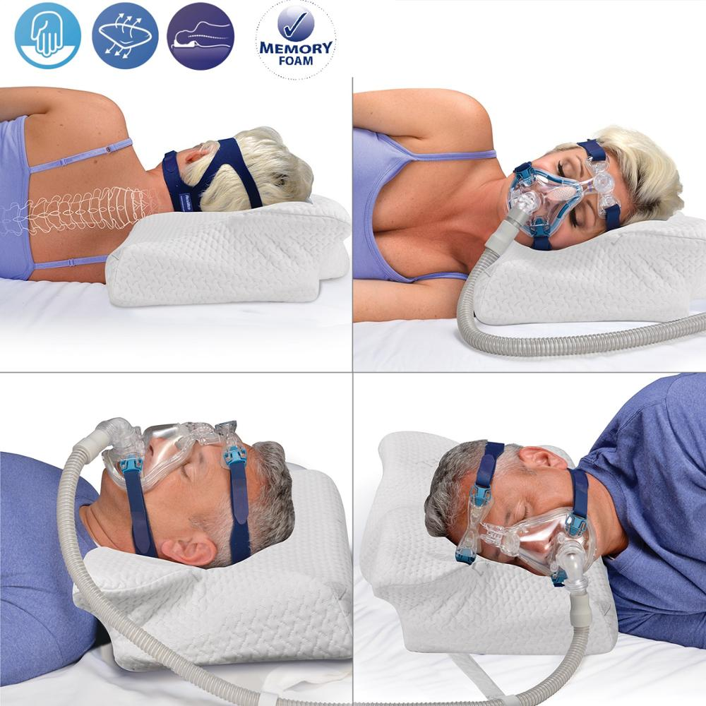 CPAP Pillow Contour Pillow For Anti Snore Memory Foam Contour Design Reduces Face Mask Pressure & Air Leaks CPAP Supplies