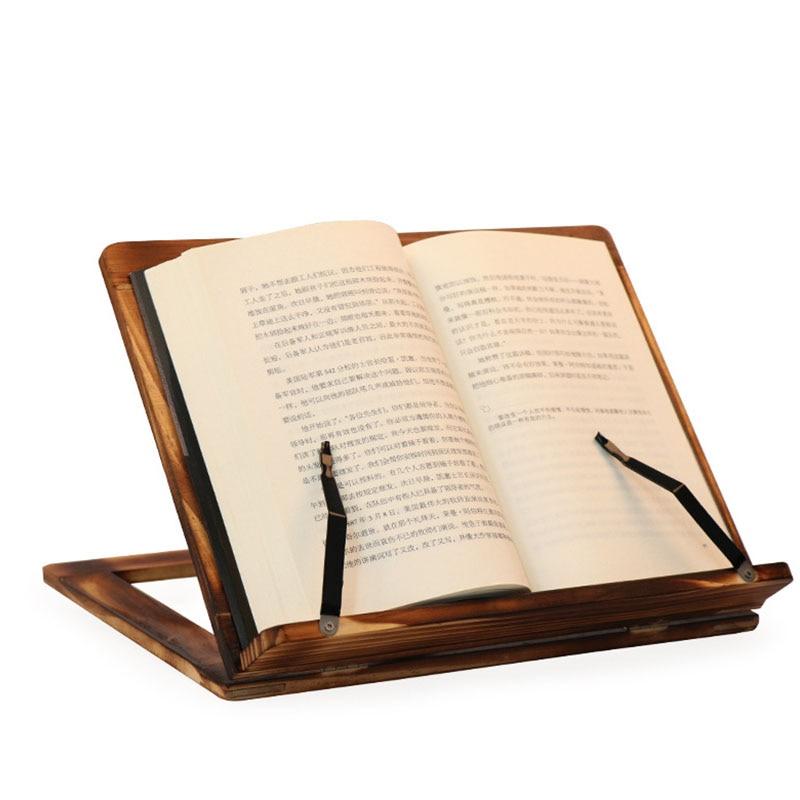 Easy Reading Folding Wooden Pine Frame Reading Bookshelf Book Reading Bracket Tablet PC Support Stand Table Magazine Holder
