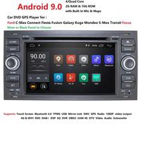 DSP IPS 2 din Android 9.0 Car GPS For Ford Mondeo S max Focus C MAX Galaxy Fiesta transit Fusion Connect kuga DVD PLAYER