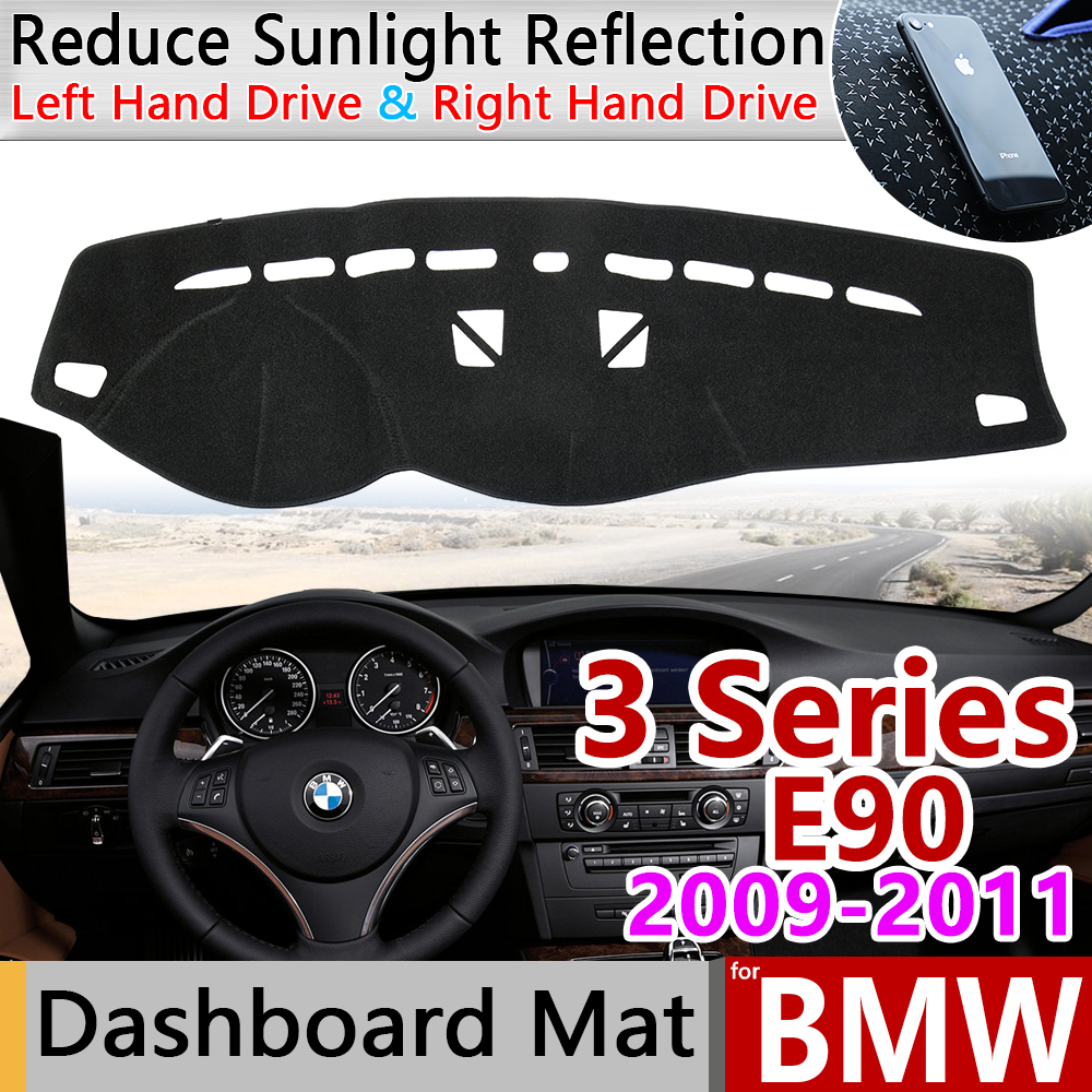 For BMW 3 Series E90 2009 2010 2011 Anti-Slip Anti-UV Mat Dashboard Cover Pad  Dashmat Protect Carpet Accessories 318i 320i 325i