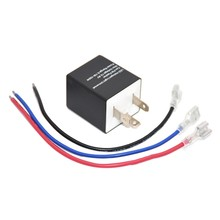 Sepeda Motor 3 Pin Adjustable Elektronik LED Flasher Relay untuk Mobil Sinyal Giliran Blinker Lampu(China)
