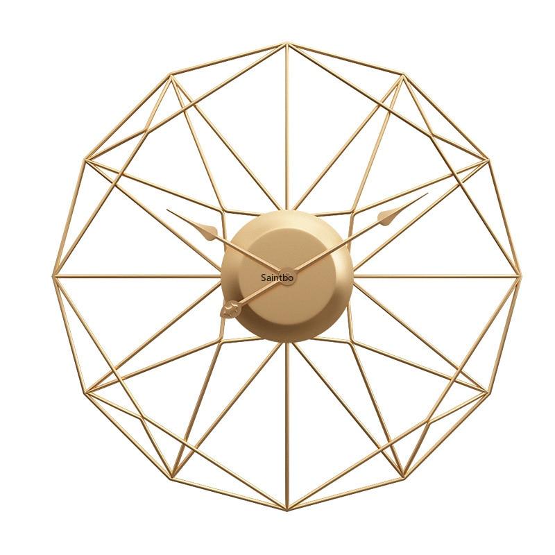 European iron clock ebay Amazon popular living room foreign trade Amazon mute wall clock home decoration accessories modern