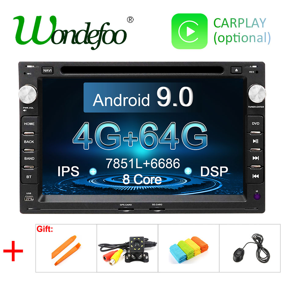 64G Android 9 0 DSP IPS DVD PLAYER For Peugeot 307 VW PASSAT B5 B4 JETTA