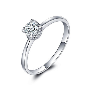1 Carat 18k Gold And White Diamond Engagement Ring  1