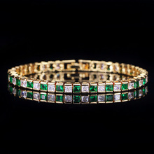 New Bracelet For Women Gold Plated Color AAA Cubic Zirconia Charm Bracelets & Bangles Femme Wedding Jewelry lbjie fashion jewelry gold color plated aaa cubic zirconia bracelet women elegant chain link adjustable bracelets