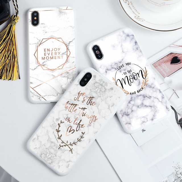 Marble Flower Soft TPU Capa Cases For iPhone 11 Pro Max For iPhone XS Max X XR 7 8 6 6S Plus 5 5S SE 2020 11Pro Case Print Coque