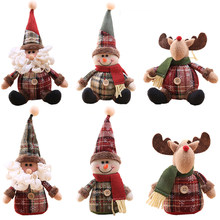 Home Decor/DIY House/Christmas Cartoon Doll/Snowflake Plaid Doll/Christmas Tree Decorations/Christmas Gift/Santa Snowman Elk