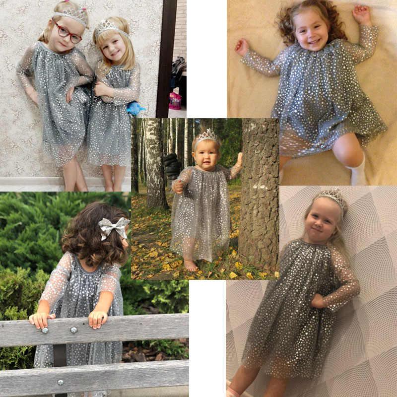 תינוק יום הולדת שמלה עם שרוולי נסיכת תלבושות בנות טוניקת שמלת חג המולד ילדים בגדי חלוק Fille מבריק ילדי שמלות