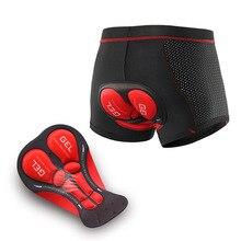 Pantalones cortos de ciclismo para hombre, ropa interior con almohadilla de Gel 3D, a prueba de golpes, para ciclismo de montaña