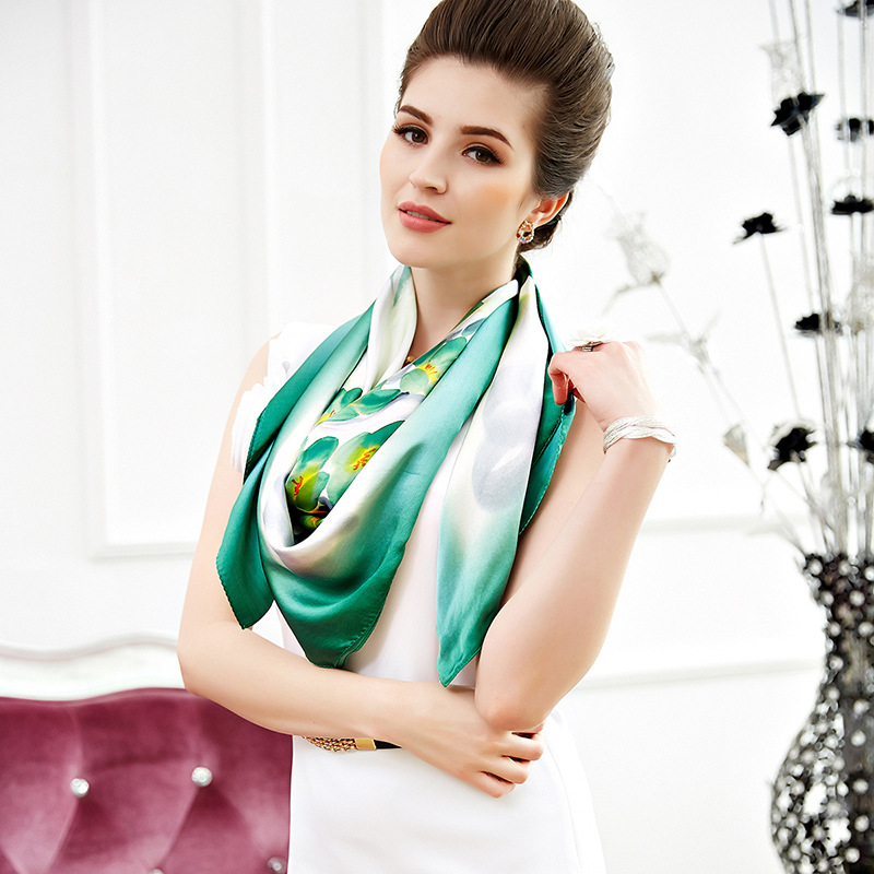 New Gift Hand-painted Silk Scarf For Ladies'