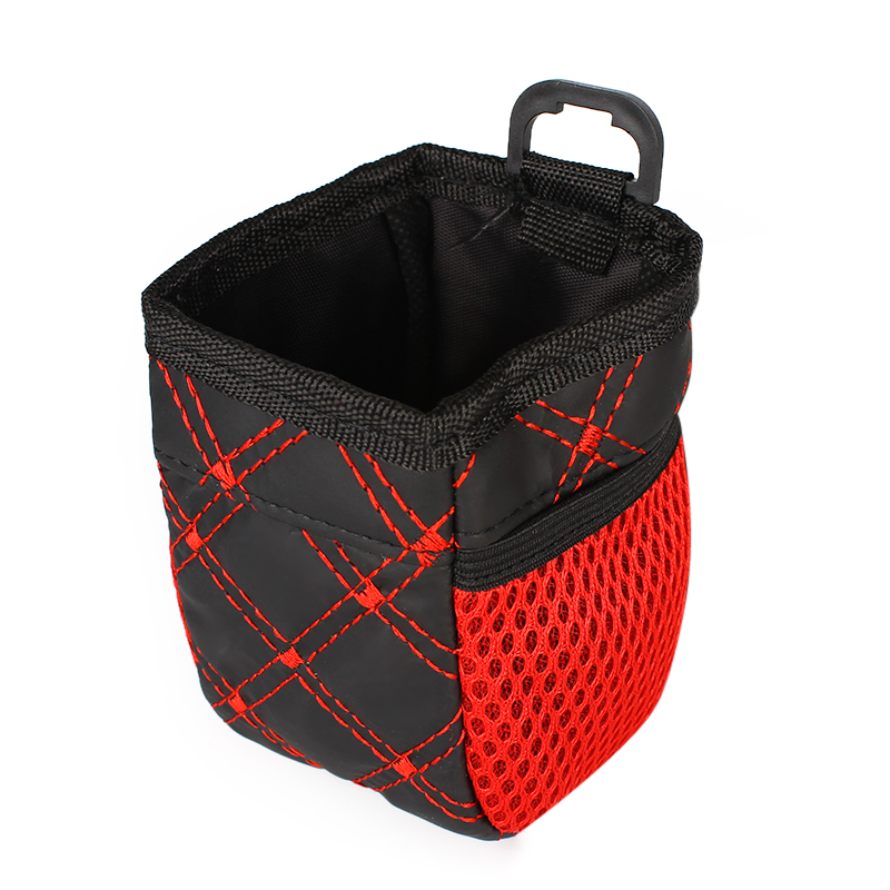 LEEPEE Car Organizer Holder Phone Holder Hanging Bag Red Pocket Grid Net Car Outlet Storage Bag Car Storage Organizer For Cars