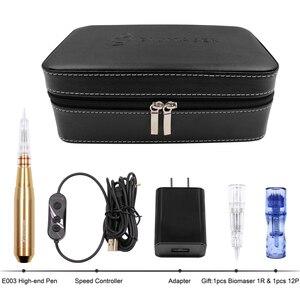 Image 5 - Biomaser e003 permanente maquiagem máquina caneta kit para sobrancelhas tatuagem caneta com dispositivo de controle velocidade + 1 cartuchos agulhas