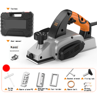 220V 850W Electric Planer Plane Hand Held Power Tool Wood Cutting With Accessories and Tool Box