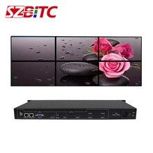 SZBITC 2x3 Video Wall Controller HD Splitter 1 in 6out Video rotazione a 180 gradi con telecomando per 6 tv