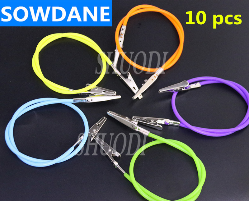 10 Pcs Dental Lab Accessory Bib Clips Chain Napkin Holder Autoclavable Rubber Oral Care Material