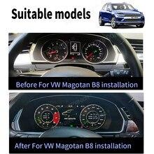 Android 9,0 de pantalla del medidor para VW CC/Magotan del tablero de instrumentos del coche de instrumentos y coche reproductor Multimedia Radio, navegación GPS para coche