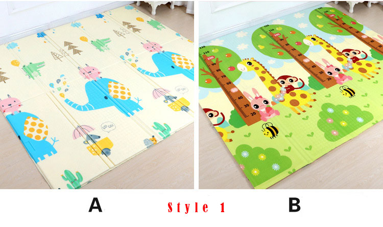 H8a2811e3b0d348578cf46887dc83746ch 200*180cm Foldable Cartoon Baby Play Mat Xpe Puzzle Children's Mat Baby Climbing Pad Kids Rug Baby Games Mats