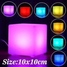 New RGB LED Light Cube Seat Chair Waterproof Rechargeable LED Lighting + Remote Control for Bar Home Garden Party Event Decor(China)