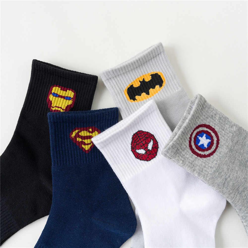 Superhero Manusia Besi Alat Peraga Cosplay Spiderman Bahan Katun Pergelangan Kaki Kaus Kaki Setinggi Lutut Kaus Kaki Hiking Kaus Kaki Baru