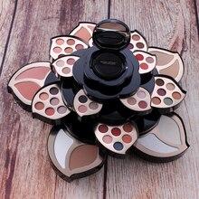 New  Black Big Plum Blossom Design Makeup Set Easy For New Hand  Palette Colorful Eye Shadow Multi-functional Makeup Set TSLM1
