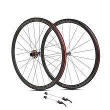 Ультралегкая колесная пара из алюминиевого сплава 700C для дорожного велосипеда, 36 мм, плоская спица, обод, герметичный подшипник, комплект ступиц из углеродного волокна