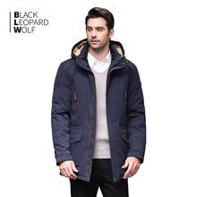 Blackleopardwolf 2019 rivestimento di inverno degli uomini di modo del cappotto di spessore Alaska parka degli uomini Antivento Staccabile in cotone outwear BL 6607
