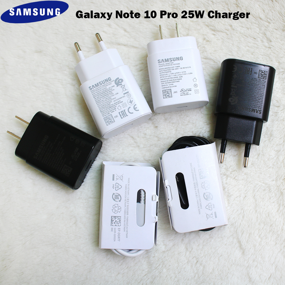 Original Samsung S20 Plus 25W PD Super Fast Charger 3A Dual Type C Data Cable For Galaxy S20 S10 S10E Note 8 9 10 Pro A71 A91