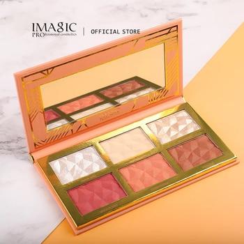 IMAGIC New 6-color Hybrid Highlight Blush Palette Rouge Makeup Blush  Palet Blush Contour Shadow Facial Cosmetics 1