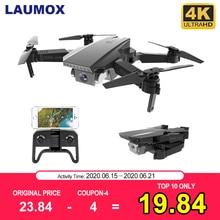 LAUMOX M71 720 RC Drone 4K de flujo óptico de la cámara HD Mini plegable Quadcopter WIFI FPV Selfie giroscopio juguete del KF609