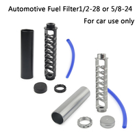Free Shipping Spiral 1 / 2 28 Or 5 / 8 24 Single Core Auto Fuel Filter For NAPA 4003 WIX 24003 Auto Used Fuel Filter