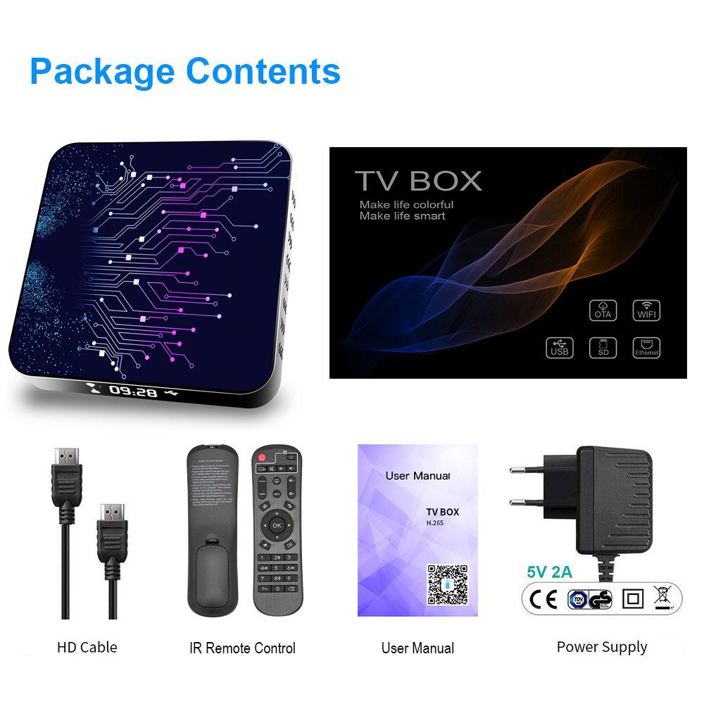 H50 2 Android TV Box Android 10 4GB 32GB 64GB 4K H.265 Media Player 3D  Video 2,4G 5GHz Wifi Bluetooth Smart TV Box Set Top Box Set-top Boxes