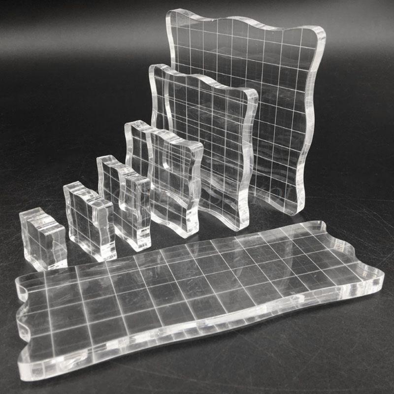 7pcs/set Transparent Acrylic Clear Stamp Block Pad Scrapbooking DIY Handmade Tool Drop Shipping