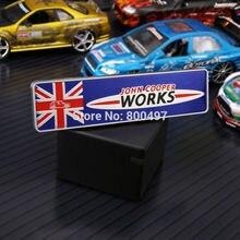 미니 쿠퍼용 최신 3D 자동차 트렁크 ABS 배지, JCW 존 쿠퍼 작업 액세서리 접착식 모토크로스 자동차 스타일링 배지 데칼, 10 x