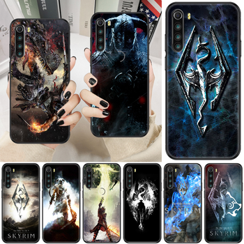 Skyrim Game Phone case For Xiaomi Redmi Note 7 7A 8 8T 9 9A 9S K30 Pro Ultra black silicone shell trend waterproof tpu cover image