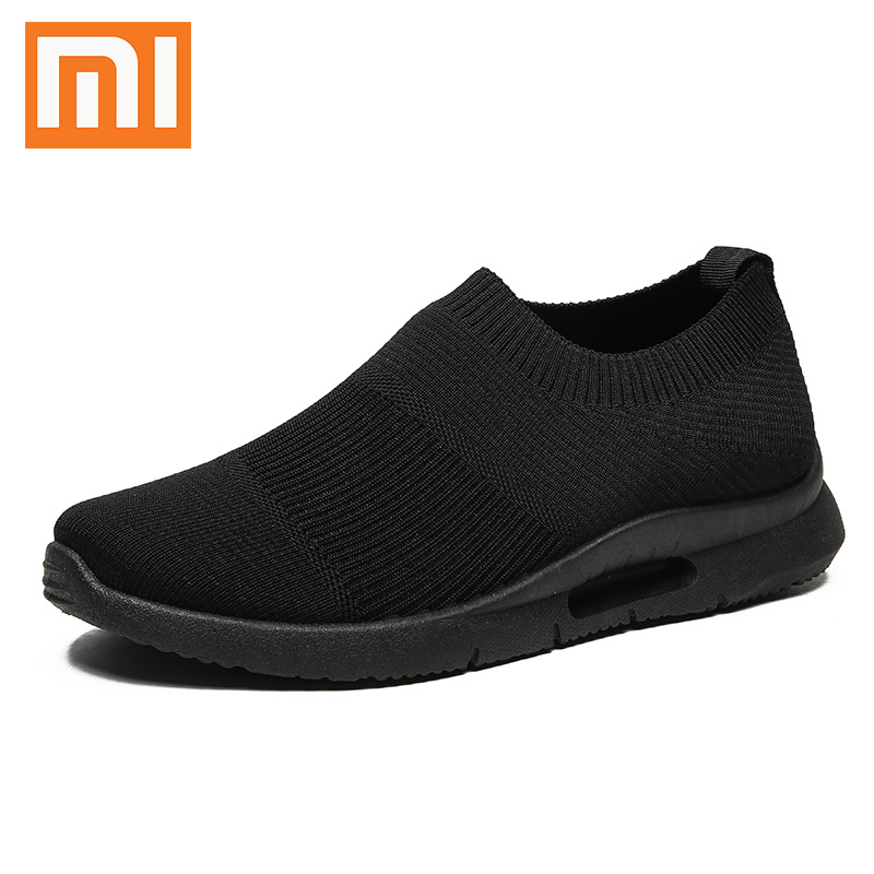 Xiaomi 2019 Breathable Men's Sneakers Stylish Comfortable Flying Woven Men Shoes Outdoor Non-slip Casual Running Shoes Size 46