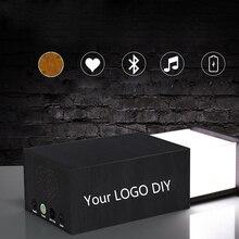 DIY Customized Laser logo engraving Rechargeable Desk LED Night Lights + Bluetooth Speaker for Hotel Home Decor Nightlight gift