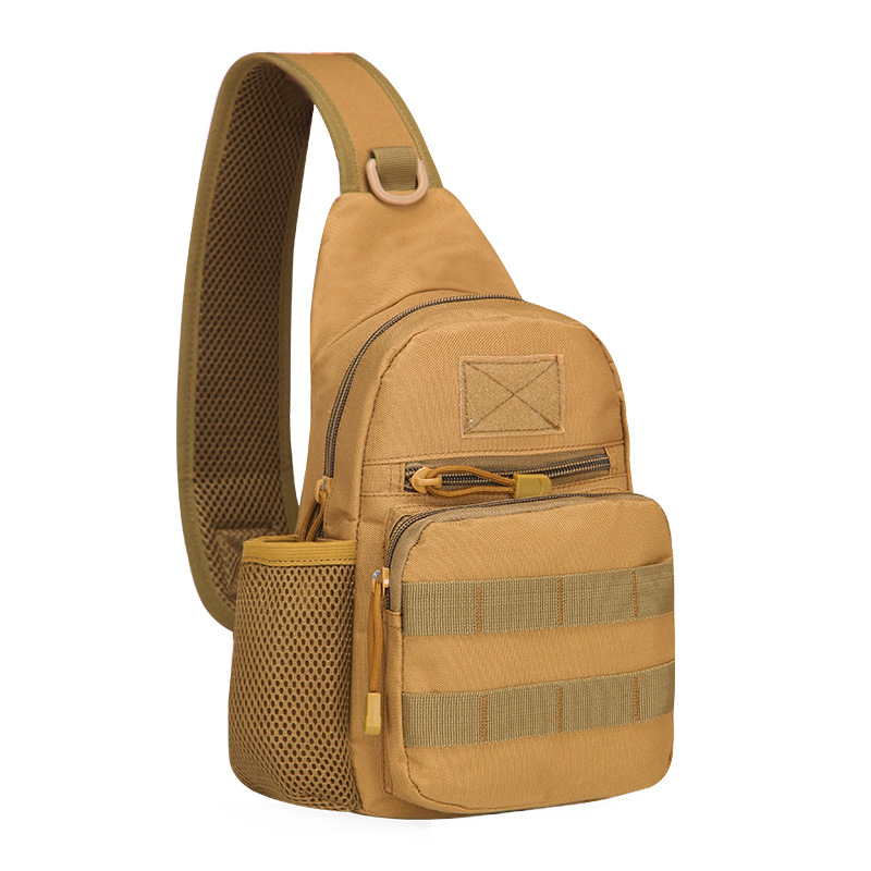 Outdoor Camouflage Multi-function Waterproof Chest Bag Men And Women Climbing Tactics Field Kettle Bag Shoulder Messenger Bag