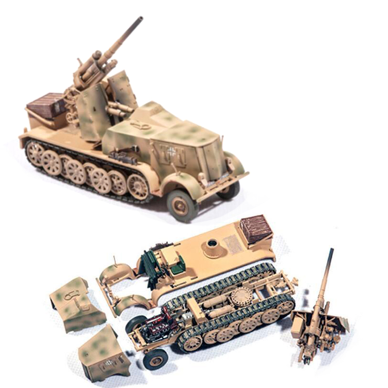 1 / 72 SD. 8 Type DB9  German Half Track Truck With 88mm Gun  P0308  Collection Model