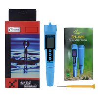 Portable PH ORP TEMP Meter Tester Pen Acidometer Conductivity Detector Digital Water Quality Monitor Tester