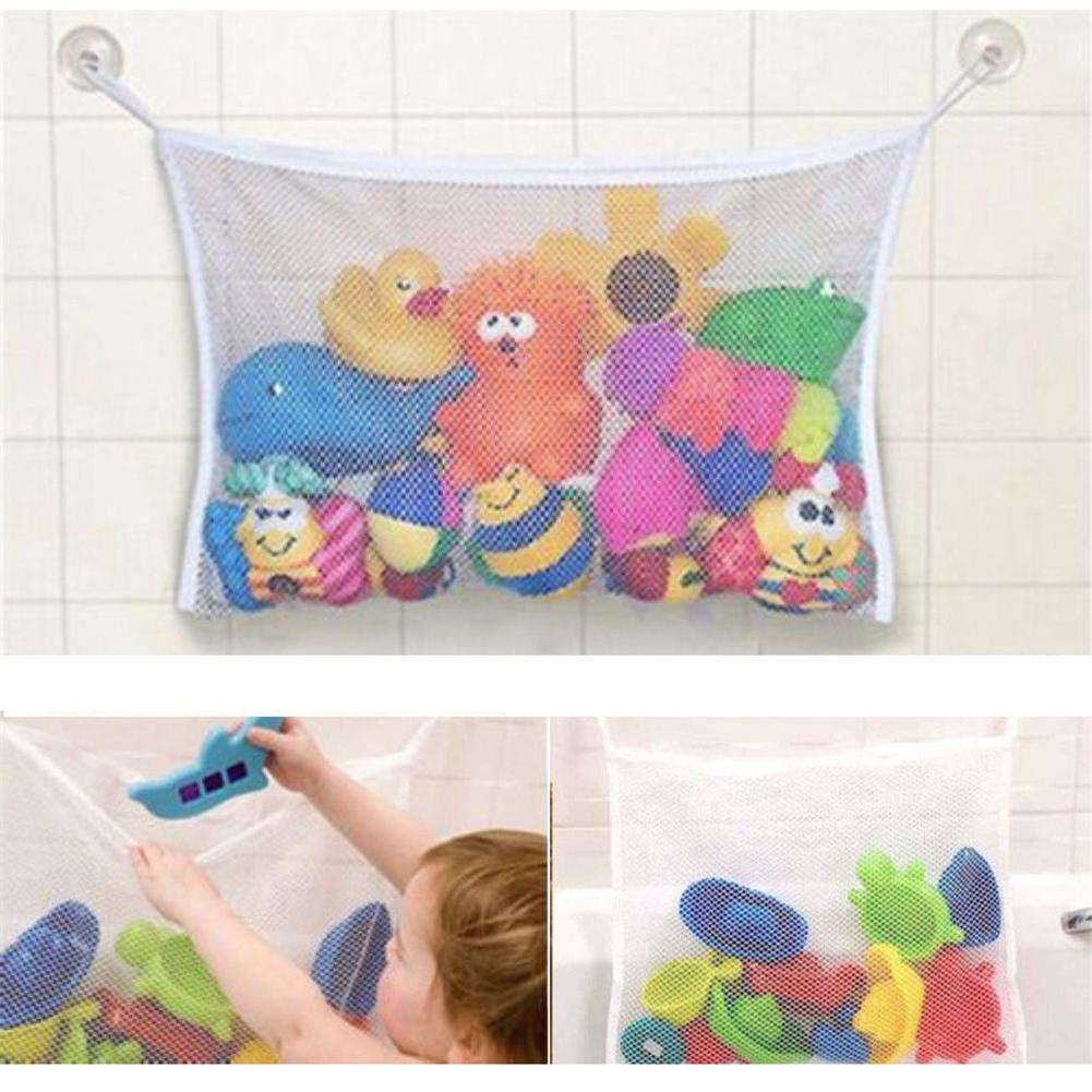 Baby Toy Mesh Bag Bath Bathtub Doll Organizer Suction Bathroom Bath Toy Stuff Net Baby Kids Bath Bathtub Toy Bath Game Bag Kids